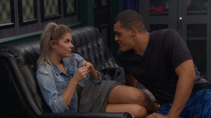 Josh and Elena on Big Brother 19