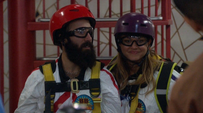 Paul and Christmas in their costume on Big Brother 19