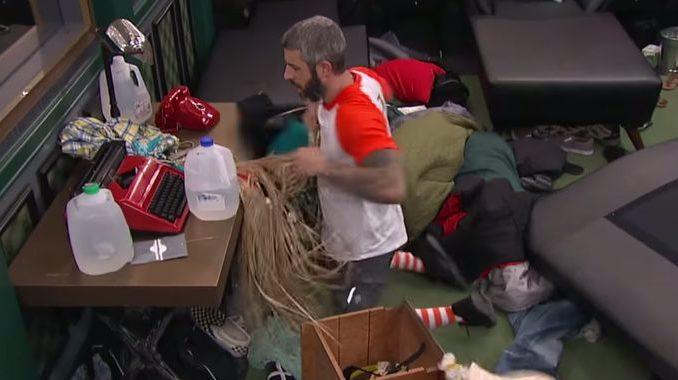 Matthew ransacks the room on Big Brother 19
