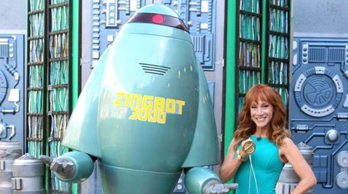 Kathy Griffin with Zingbot on Big Brother