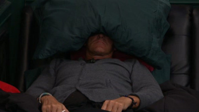 Kevin tries to hide from the rest of BB19