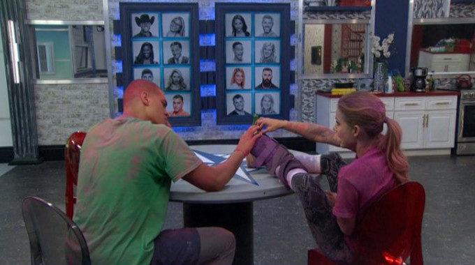 Josh Martinez and Christmas Abbott on Big Brother 19