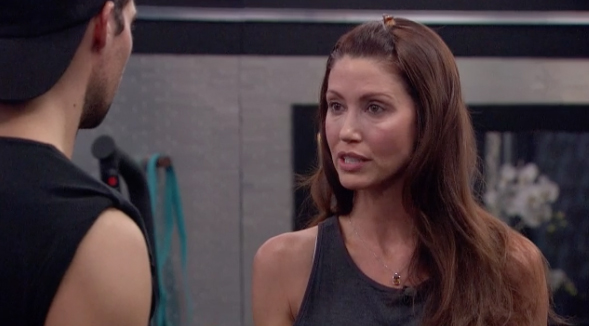 Shannon talks with James on Celebrity Big Brother