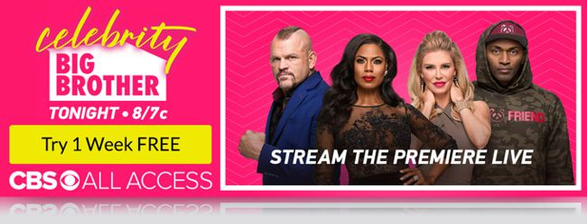 Celebrity Big Brother 2018 premiere on All Access
