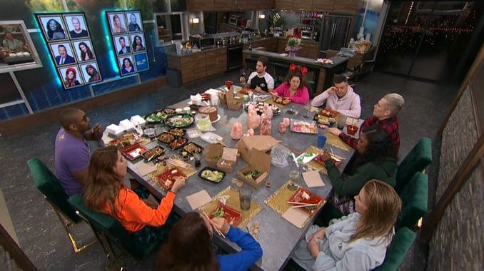 Houseguests celebrate on Celebrity Big Brother