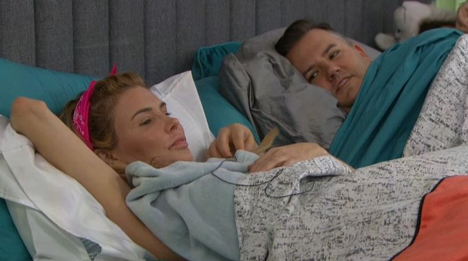 Brandi and Ross on Celebrity Big Brother