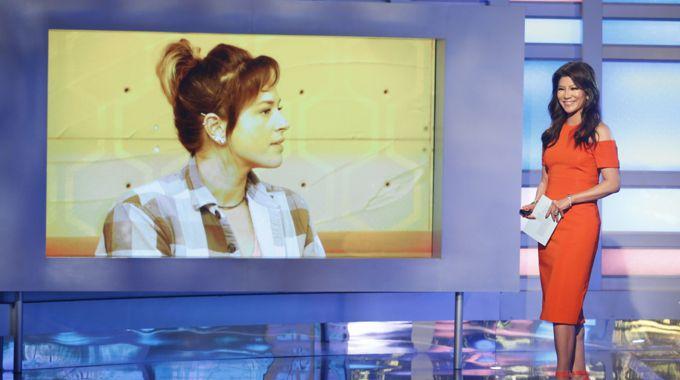 Big Brother 20 host Julie Chen and Sam Bledsoe