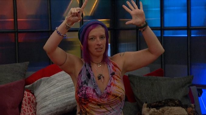 Angela counting the votes on BB20