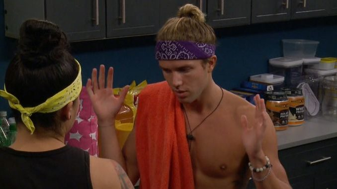 Tyler talks with Kaycee on Big Brother 20