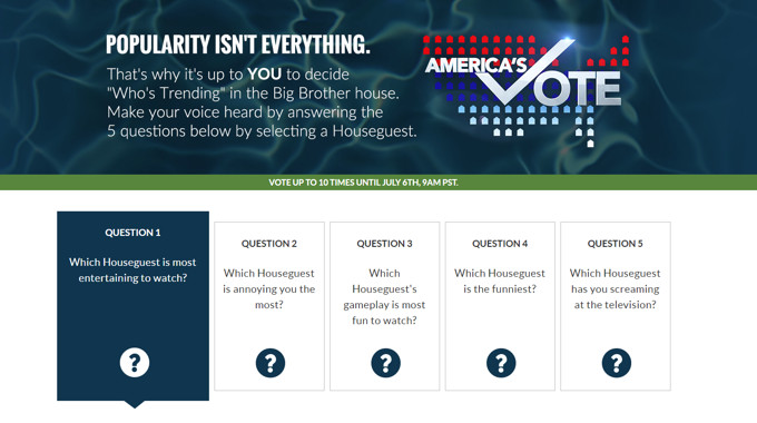 America's Vote for Trending HGs