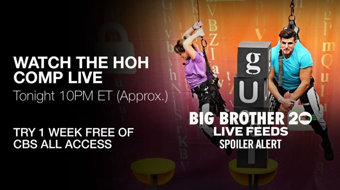 Big Brother 20 Endurance HOH on BBLF