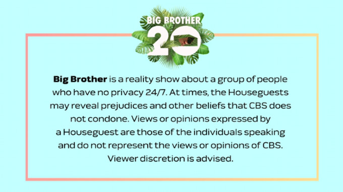 CBS warning on Big Brother Live Feeds