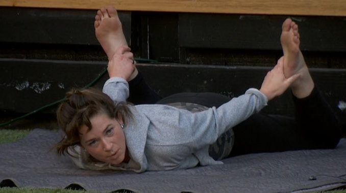 Sam stretches on Big Brother 20