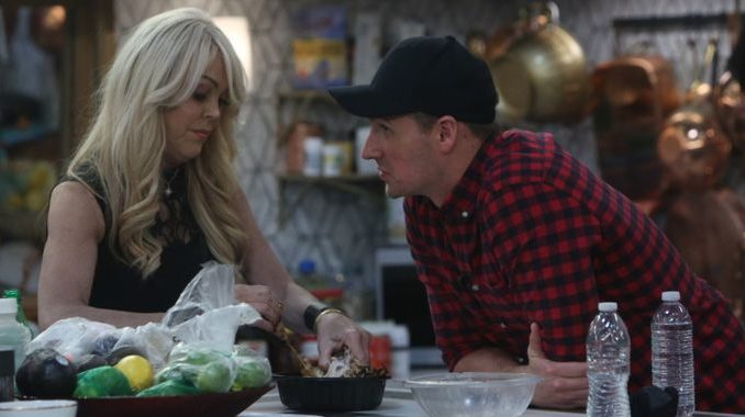 Ryan Lochte and Dina Lohan on Celebrity Big Brother
