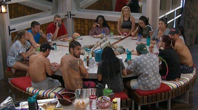 Big Brother 21 HGs at dinner in Week 1
