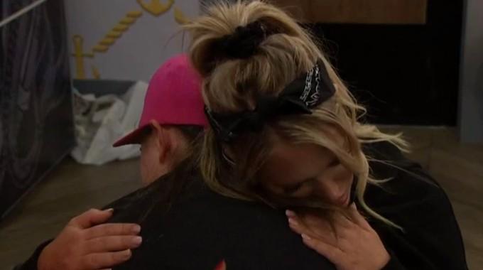 Whitney comforts Britini on Big Brother 23
