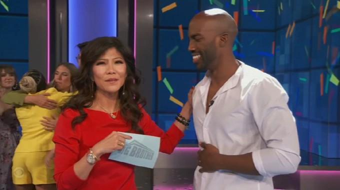 Julie Chen with Big Brother 23 winner Xavier Prather